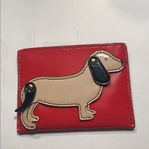 Gently Used Tory Birch Dachshund Card Holder